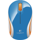 Logitech Wireless Mini Mouse M187, modrá