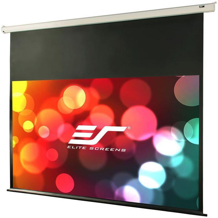 """Elite Screens plátno elektrické motorové 120"""" (307,3 cm)/ 16:9/ 149,6 x 265,7 cm/ Gain 1,1"""