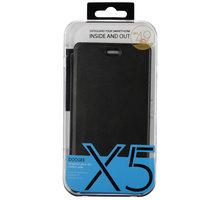 DooGee X5/X5 PRO Flip Case + Screen Protector Glass, černá - ACCDG014