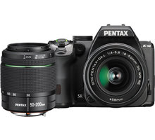 Pentax K-70, černá + DAL 18-50mm WR + DAL 50-200mm WR - 16295 + Objektiv Pentax DA 50mm F1.8 v ceně 4690 Kč