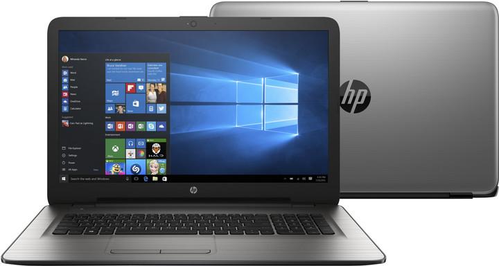 HP 17 (17-x001nc), stříbrná