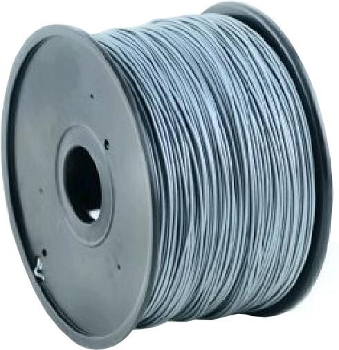 Gembird tisková struna (filament), ABS, 1,75mm, 1kg, stříbrná