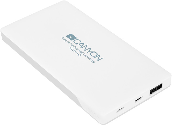 Canyon powerbanka 10000 mAh, bílá