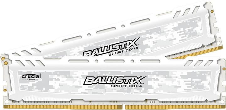 Crucial Ballistix Sport LT White 32GB (2x16GB) DDR4 2400