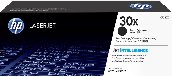 HP CF230X no. 30X, (3500 str.), black