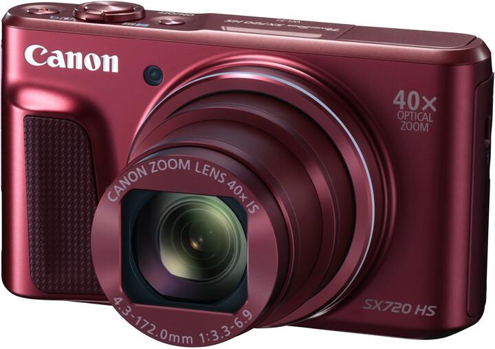 Canon PowerShot SX720 HS, červená - Travel kit