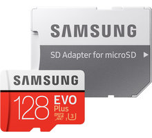 Samsung Micro SDXC EVO Plus 128GB UHS-I U3 + SD adaptér - MB-MC128GA/EU