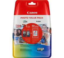 Canon PG-540XL/CL-541XL Photo Value pack + 4x6 Photo Paper (GP-501 50sheets) - 5222B013