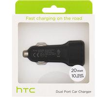 HTC CC C700 Fast Dual USB Autodobíječ 2x10W/2A (EU Blister) - 27785