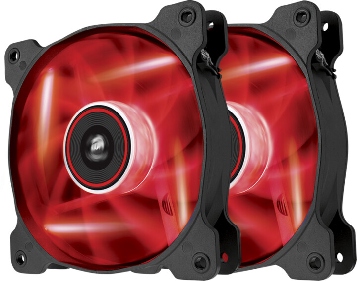 Corsair Air Series AF120 Quiet LED Red Edition, 120mm. 2ks