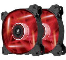 Corsair Air Series AF120 Quiet LED Red Edition, 120mm. 2ks - CO-9050016-RLED