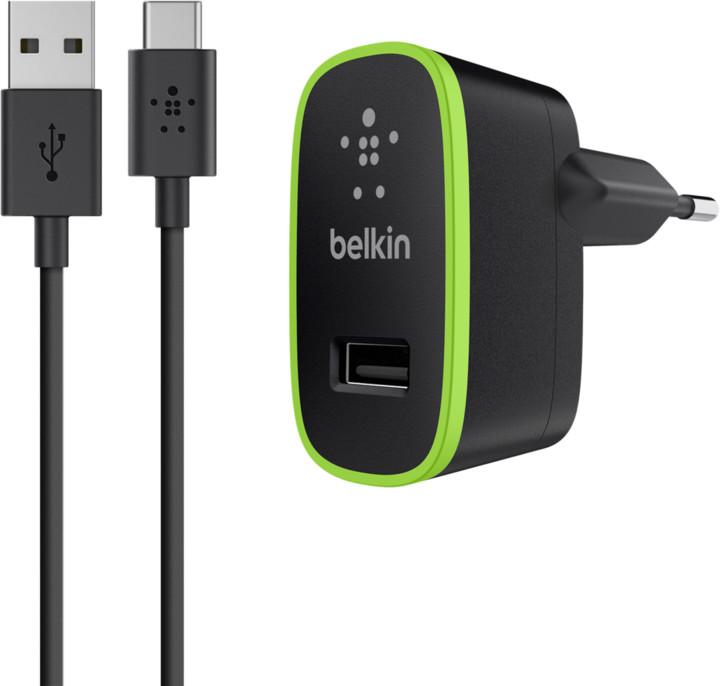 Belkin USB-C 230V nabíječka 5V/2,1A, vč. USB-A to USB-C kabelu, černá