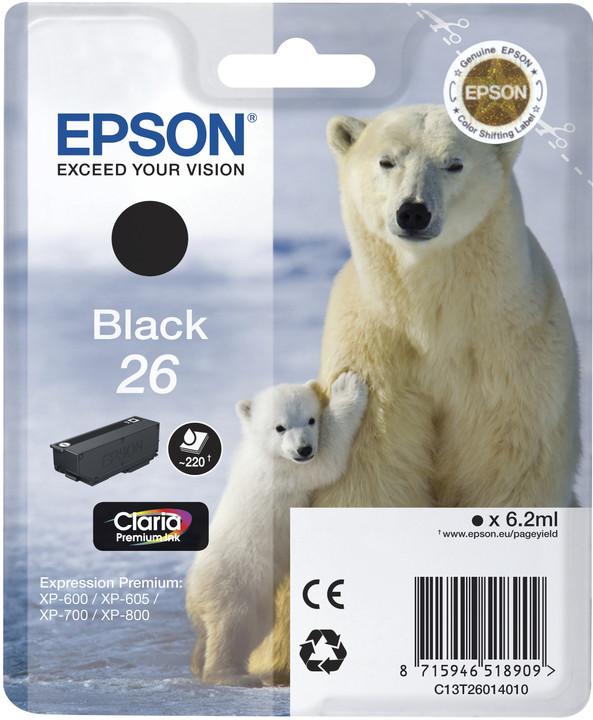 Epson C13T26014010, černá