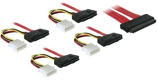 DeLock SAS 32-pin / 4x SAS 29-pin+napájení 50 cm