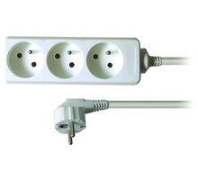 Prodlužovací kabel 230V 3m - 3x zásuvka, bílý - 8595092107055
