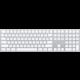 Apple Magic Keyboard s numerickou klávesnicí, bluetooth, stříbrná, US