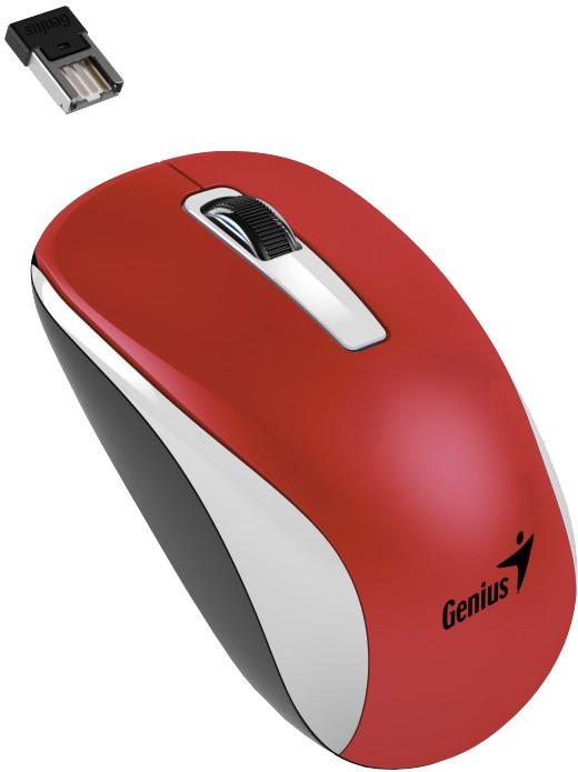 Genius NX-7010, bezdrátová, bílá/červená