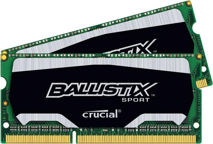 Crucial Ballistix Sport 8GB (2x4GB) DDR3 1600 SO-DIMM