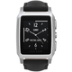 Vector SmartWatch Meridian-Brushed Steel/Black Padded Leather
