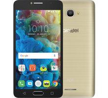 ALCATEL OT-5095K POP 4s, zlatá - 5095K-2GALE11 + Zdarma GSM reproduktor Accent Funky Sound, červená (v ceně 299,-)