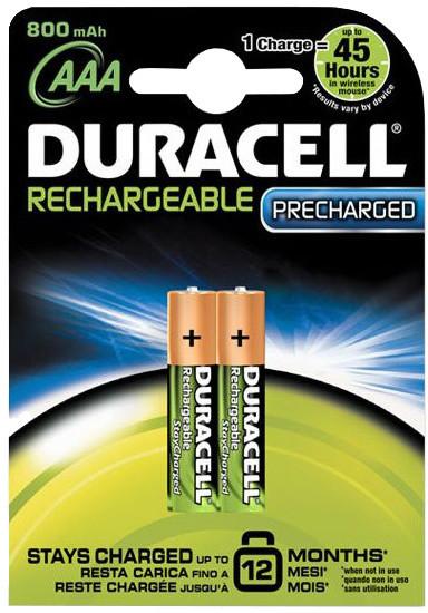 Duracell Stay Charge AAA - 800 mAh, 2ks
