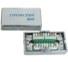 PremiumCord Propojovací box pro kabely Cat.5e, narážecí, stíněný - srjbox