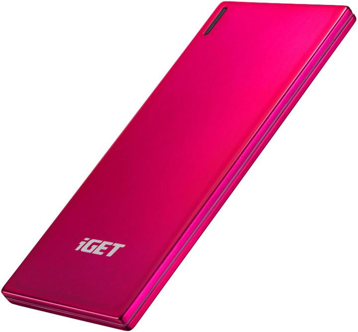 iGET POWER Slim B-3500R, 3500mAh, červená