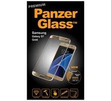PanzerGlass - Ochrana obrazovky - zlatá, křišťálově čistá - pro Samsung Galaxy S7 edge - B1055