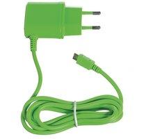 CELLY cestovní nabíječka microUSB, 1A, zelená - TCMICROG