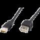 PremiumCord USB, A-A prodlužovací, 20 cm, černá