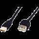 Digitus Premium USB kabel prodlužovací A-A, 2xstíněný 5m, černý