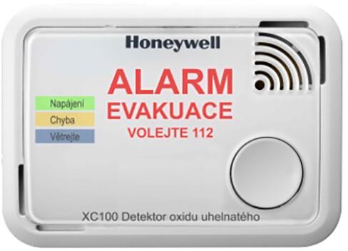 Honeywell XC100-CS, hlásič oxidu uhelnatého, CO alarm