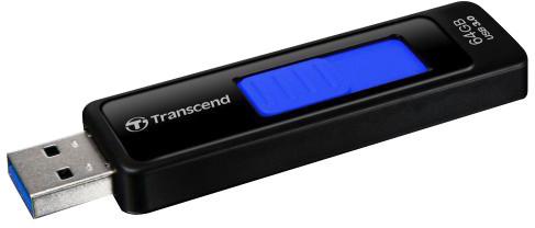 Transcend JetFlash 760 64GB, černo-modrá