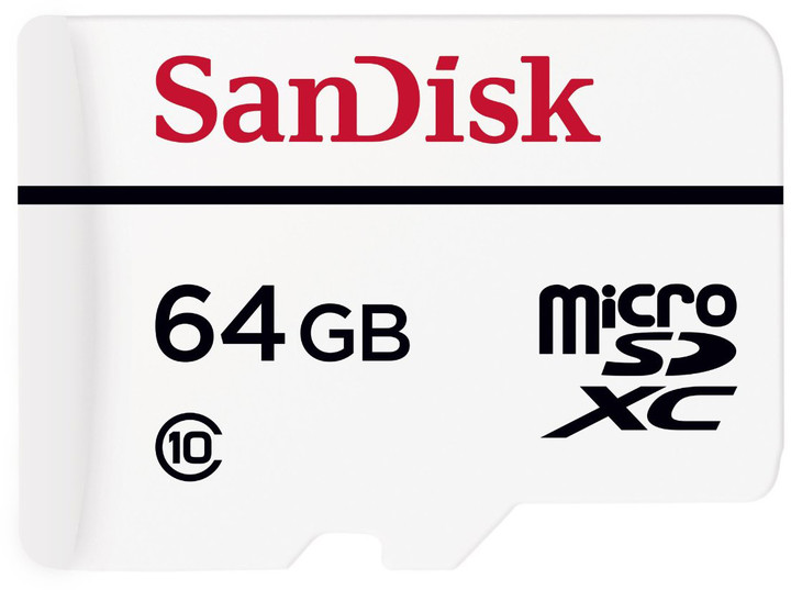 SanDisk Micro SDXC High Endurance 64GB 20MB/s + SD adaptér