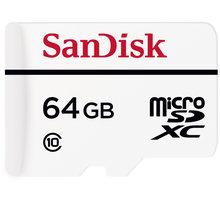 SanDisk Micro SDXC High Endurance 64GB 20MB/s + SD adaptér - SDSDQQ-064G-G46A