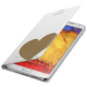 Samsung flipové pouzdro s kapsou EF-EN900B pro Galaxy Note 3, bílo-zlatá