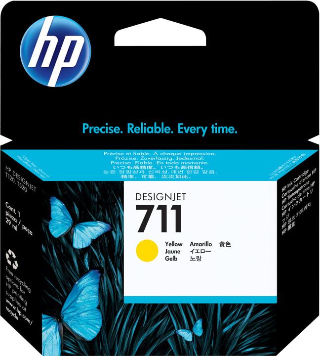 HP CZ136A náplň č.711, 3-pack, žlutá