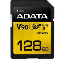 ADATA SDXC Premier One 128GB 290/260MB/s UHS-II U3 - ASDX128GUII3CL10-C