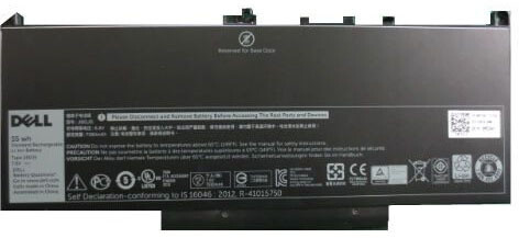 Dell baterie, 4-cell, 55Wh LI-ON pro Latitude E7270/E7470