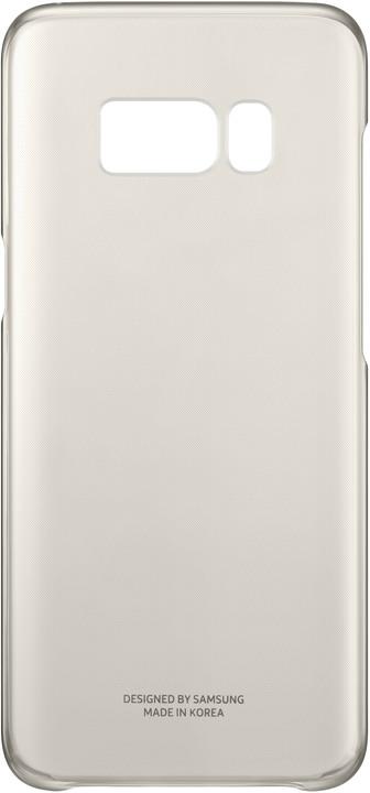 Samsung S8+, Poloprůhledný zadní kryt, zlatá