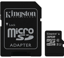 Kingston Micro SDHC 32GB Class 10 + adaptér