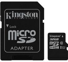 Kingston Micro SDHC 32GB Class 10 + adaptér