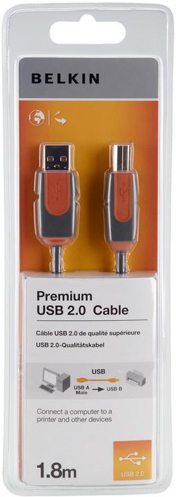 Belkin USB 2.0 kabel A-B, řada premium, 1.8 m