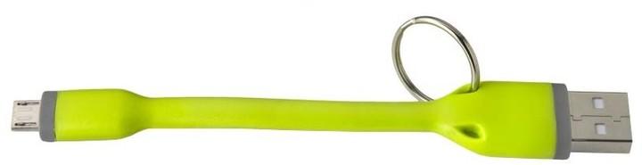 CELLY USB kabel s microUSB konektorem, 12 cm, zelený
