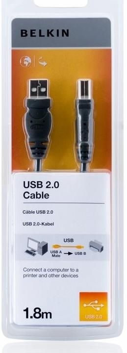 Belkin kabel USB 2.0. A/B řada standard, 1,8m