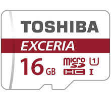 Toshiba Micro SDHC Exceria M302 16GB 90MB/s UHS-I + adaptér - THN-M302R0160EA