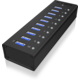 ICY BOX IB-AC6110, USB 3.0 Hub, 10-Port