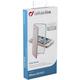 CellularLine Clear Book pouzdro typu kniha pro Apple iPhone 5/5S/SE, průhledné, růžové
