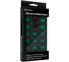 Sharkoon Mechanical Rubber Keyset, Cherry MX/Kailh, zelené - 4044951019830