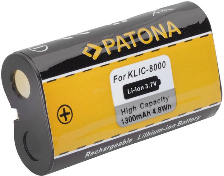 Patona baterie pro Kodak KLIC-8000 1300mAh Li-Ion